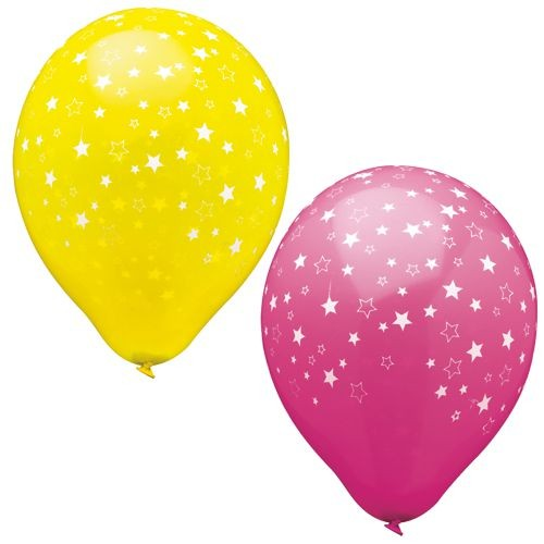 "15 Luftballons Ø 29 cm farbig sortiert ""Stars"""