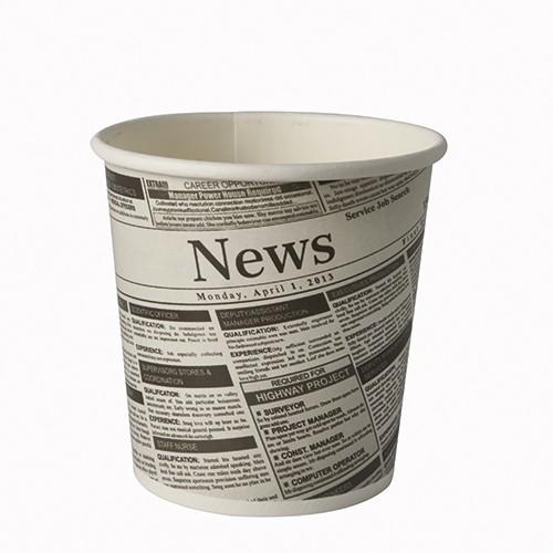 """50 Snackbecher, Pappe """"To Go"""" rund 470 ml Ø 9,9 cm · 9,9 cm """"Newsprint"""""""