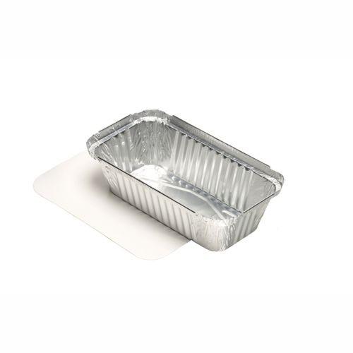 50 Schalen, Alu + Einlegedeckel, PE-beschichtet eckig 0,7 l 4,9 cm x 10,3 cm x 19,5 cm