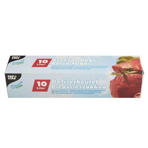 24 Gefrierbeutel, LLDPE 10 l 60 cm x 40 cm transparent in Faltschachtel