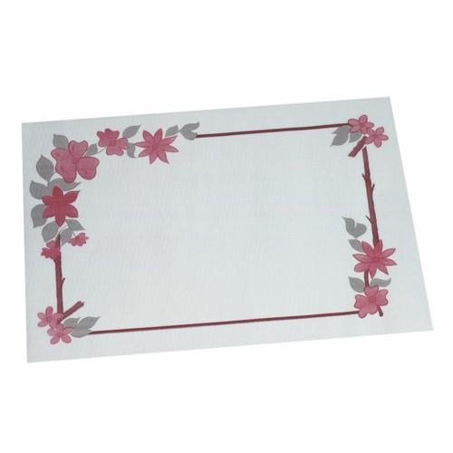 """250 Tischsets, Papier 30 cm x 40 cm weiss """"Blumenranke"""""""