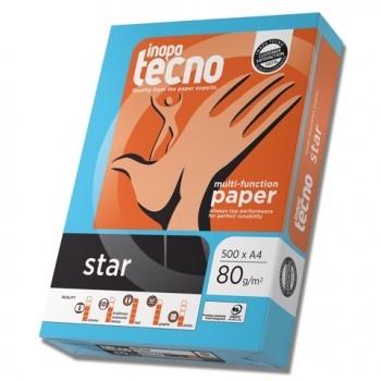 inapa tecno star, A4, 80g/m², 2-fach gelocht, weiß, EU-Eco, 500 Blatt