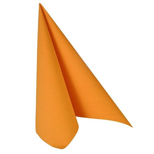 """50 Servietten """"ROYAL Collection"""" 1/4-Falz 40 cm x 40 cm orange"""
