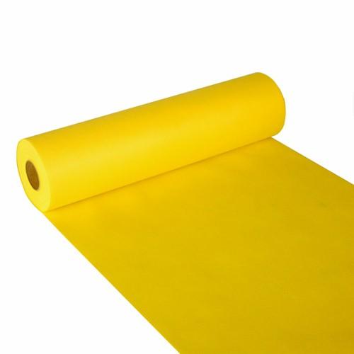 """Tischläufer, stoffähnlich, Vlies """"soft selection"""" 24 m x 40 cm gelb"""