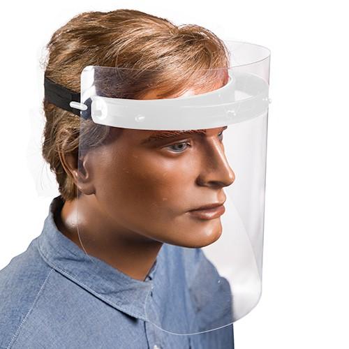 Gesichtsschutzset 25 cm weiss zum Selbstaufbau inkl. 2 Visiere