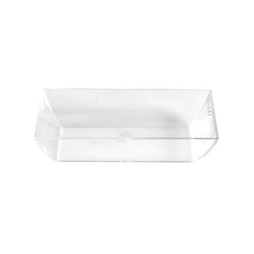50 Fingerfood - Schalen, PS eckig 1,6 cm x 7,9 cm x 5,5 cm glasklar