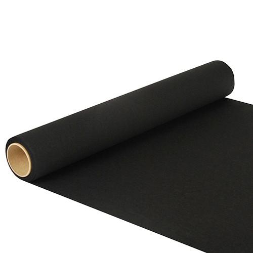 """Tischläufer, Tissue """"ROYAL Collection"""" 5 m x 40 cm schwarz"""