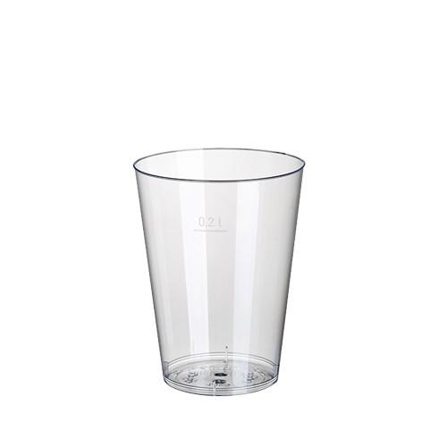 10 Trinkbecher, PS 0,2 l Ø 7,5 cm · 9,7 cm glasklar