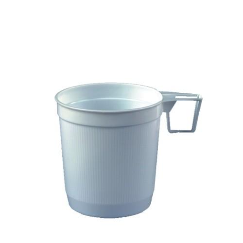 40 Kaffeetassen, PS 0,25 l Ø 8 cm · 8,5 cm weiss