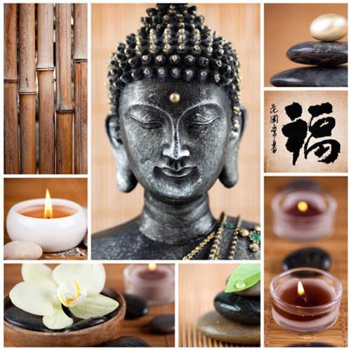 "20 Servietten, 3-lagig ""Design Edition"" 1/4-Falz 33 cm x 33 cm ""Buddha"""