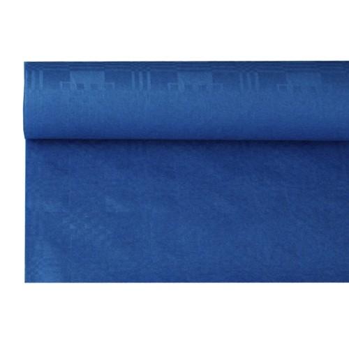 Papiertischtuch mit Damastprägung 8 m x 1,2 m dunkelblau