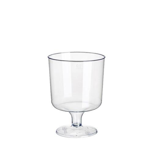 10 Stiel-Gläser für Rotwein, PS 0,2 l Ø 7,2 cm · 10 cm glasklar einteilig