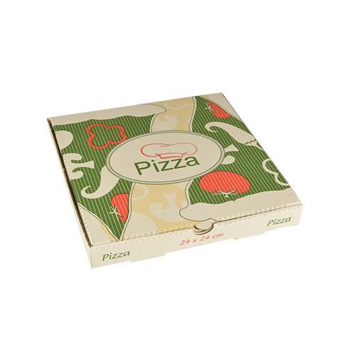 """100 Pizzakartons, Cellulose """"pure"""" eckig 24 cm x 24 cm x 3 cm"""