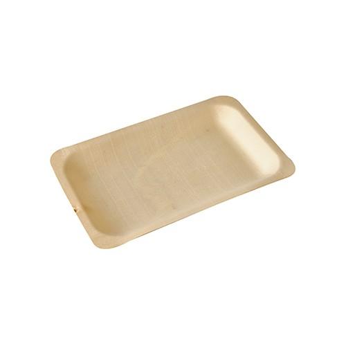 """50 Fingerfood - Teller, Holz """"pure"""" eckig 19,5 cm x 14 cm"""