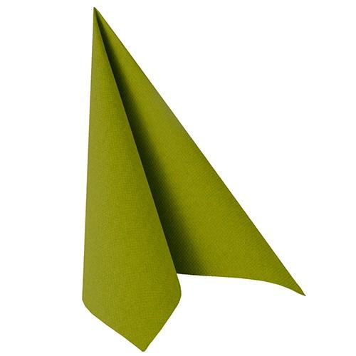 """50 Servietten """"ROYAL Collection"""" 1/4-Falz 40 cm x 40 cm olivgrün"""