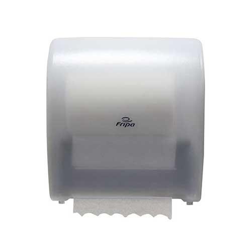 Spender für System-Handtuchrollen 33,5 cm x 22 cm x 32 cm weiss halbautomatisch, Abreißstop bei ca.