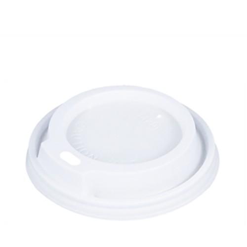50 Dom-Deckel, PS rund Ø 8 cm · 1,8 cm weiss