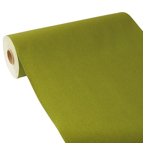"""Tischläufer, stoffähnlich, PV-Tissue Mix """"ROYAL Collection"""" 24 m x 40 cm olivgrün"""