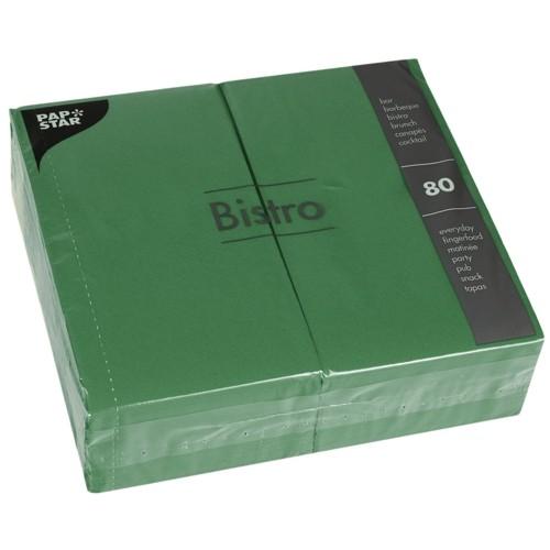 80 Servietten, 2-lagig 1/6-Falz 40 cm x 32 cm dunkelgrün