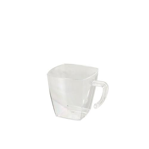 "20 Fingerfood - Becher, PS eckig 60 ml 4,8 cm x 4,8 cm x 4,8 cm glasklar ""Coffee Cup"""