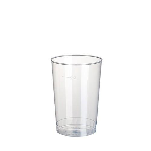 40 Trinkbecher, PP 0,2 l Ø 6,8 cm · 9,8 cm transluzent unzerbrechlich