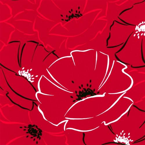 """20 Servietten, 3-lagig 1/4-Falz 40 cm x 40 cm """"Red Passion"""""""