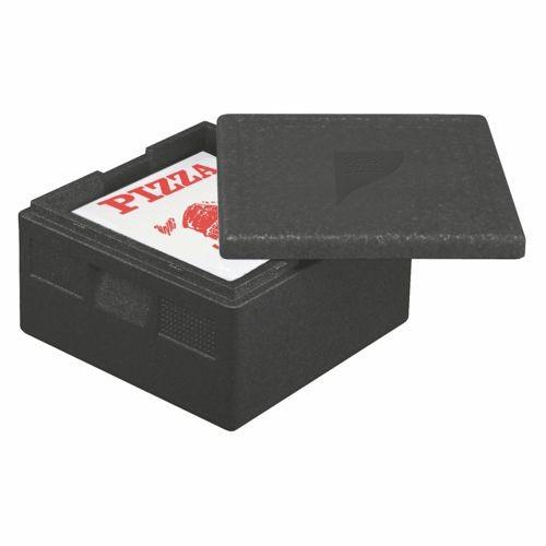 """Isolier-Transportbehälter, EPP 41 cm x 41 cm x 24 cm schwarz """"Pizza"""""""