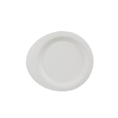 """50 Fingerfood - Teller, Zuckerrohr """"pure"""" 12,4 cm x 11,2 cm weiss"""