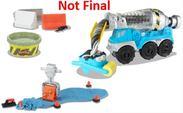 Hasbro E68915L0 Play-Doh Wheels Zementmischer