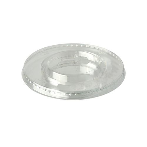 """100 Deckel, PLA """"pure"""" rund Ø 9,5 cm glasklar mit Kreuzschlitz"""