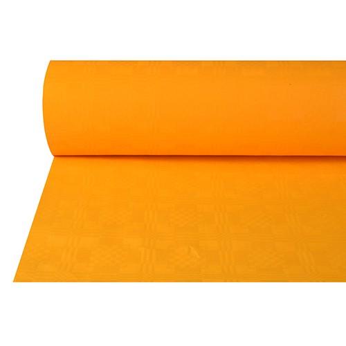 Papiertischtuch mit Damastprägung 50 m x 1 m orange
