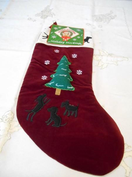 XXL - Weihnachtsstrumpf / Weihnachtssocken f. Geschenke, H: 45 cm, B:19,5 cm