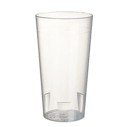 10 Mehrweg-Trinkbecher 0,4 l Ø 7,5 cm · 14,5 cm transluzent unzerbrechlich