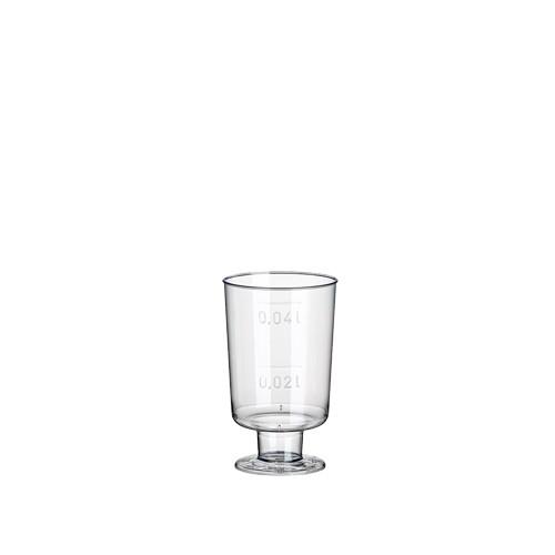20 Stiel-Gläser für Schnaps, PS 4 cl Ø 3,8 cm · 6,3 cm glasklar einteilig