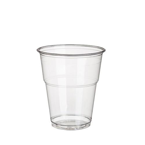 """70 Kaltgetränkebecher, PLA """"pure"""" 0,3 l Ø 9,5 cm · 11 cm glasklar mit Schaumrand"""