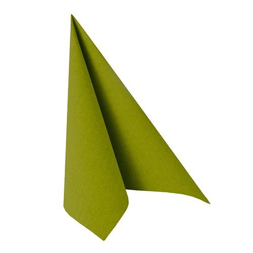 """50 Servietten """"ROYAL Collection"""" 1/4-Falz 33 cm x 33 cm olivgrün"""