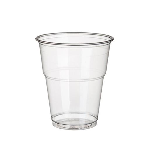 """25 Kaltgetränkebecher, PLA """"pure"""" 0,3 l Ø 9,5 cm · 11 cm glasklar mit Schaumrand"""
